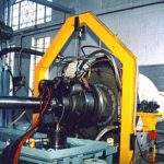 Gas turbine at test bench